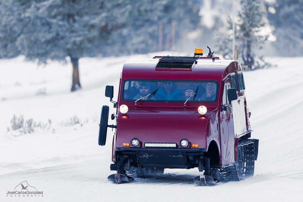 Yellowstone - Coche de nieve Bombardier