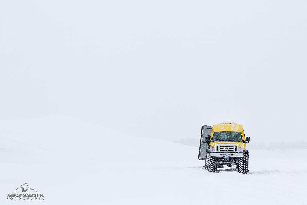 Yellowstone - Coche de nieve