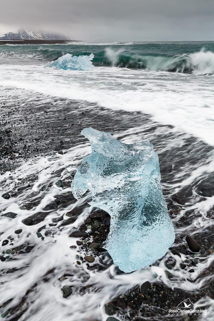 Playa de Jökulsárlón - Hielo azul